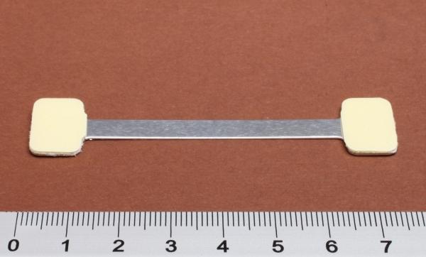 Twinstick 75mm (Alu) mit 2 Klebeflächen (15x10mm)