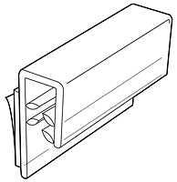 Schild Grip 23mm x 25mm bis ca. 4mm Materialstärke