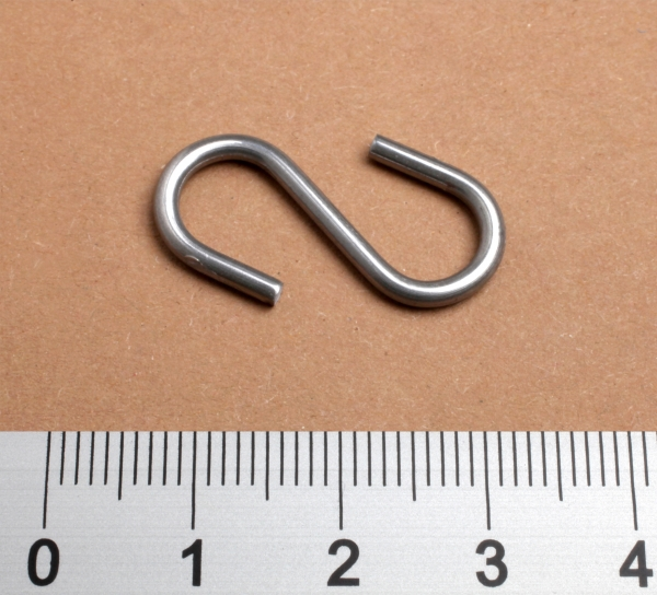 S-Haken 27mm, Metall 2mm dm