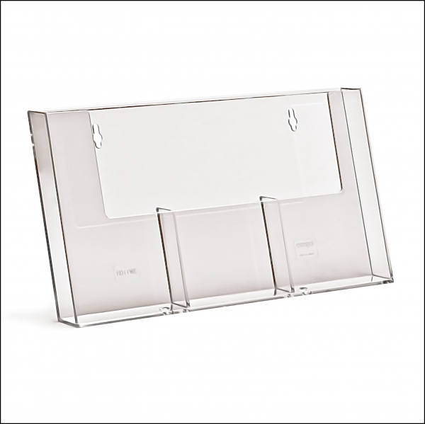 TAYMAR Wandprospekthalter 3 x 1/3 A4 nebeneinander