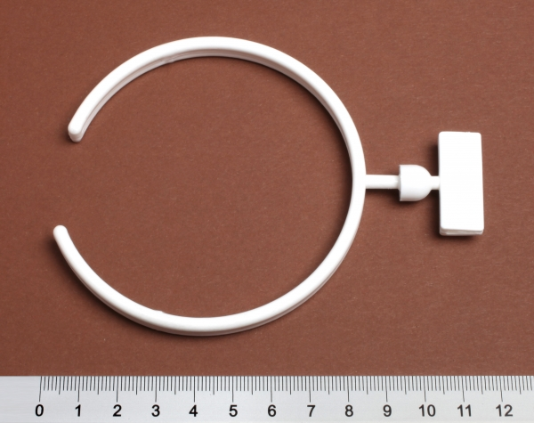 Rohrklemme 95mm dm mit drehbarem Schildhalter