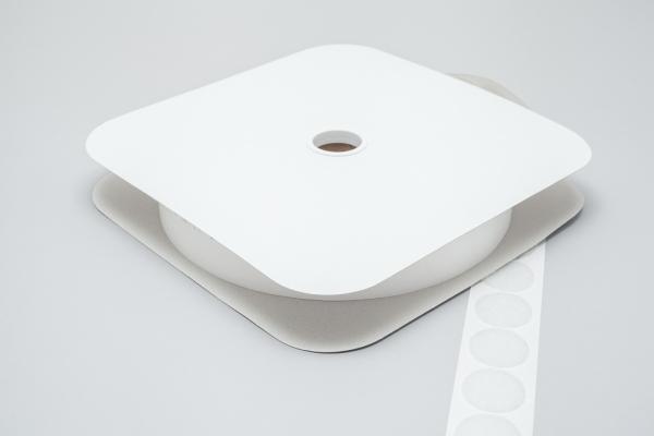 Klettpunkte Flausch 33mm dm weiß