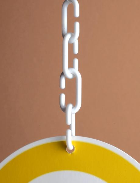 C-Haken, Kunststoff weiß 30mm