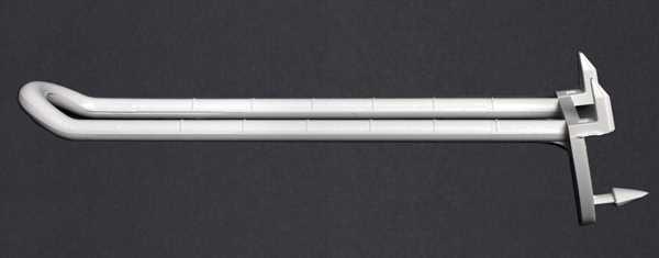 Schlaufenhaken mit Dorn 200mm weiß