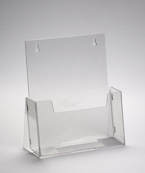 Prospekthalter faltbar A4 klarsichtig