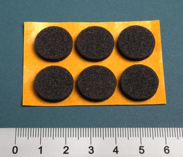 PE-Schaumpunkte für CD 16mmx4mm anthrazit