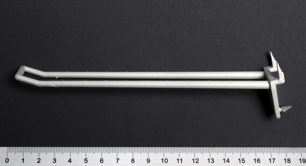 Schlaufenhaken mit Dorn 150mm weiß