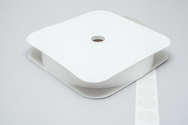 Klettpunkte Haken und Flausch 33mm dm weiß
