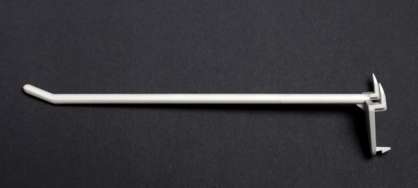 Displayhaken mit Dorn 150mm weiß