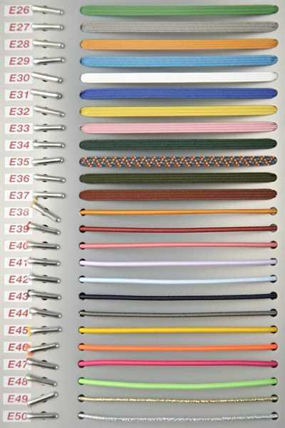 Musterbuch Elastikfäden mit Doppelsplint