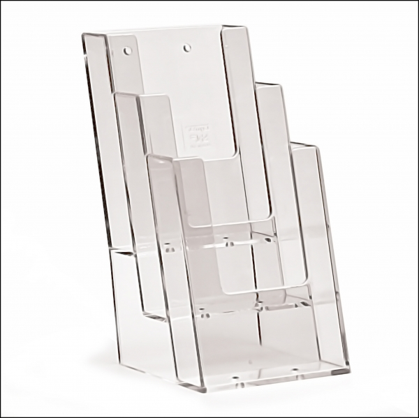 TAYMAR Prospekthalter 3 x 1/3 A4 hoch