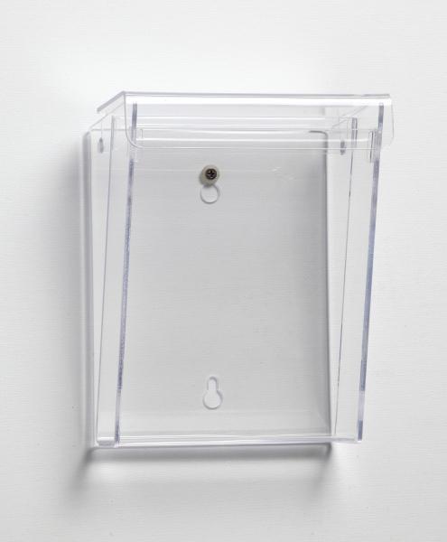 Prospekthalter Acryl A5 mit Deckel